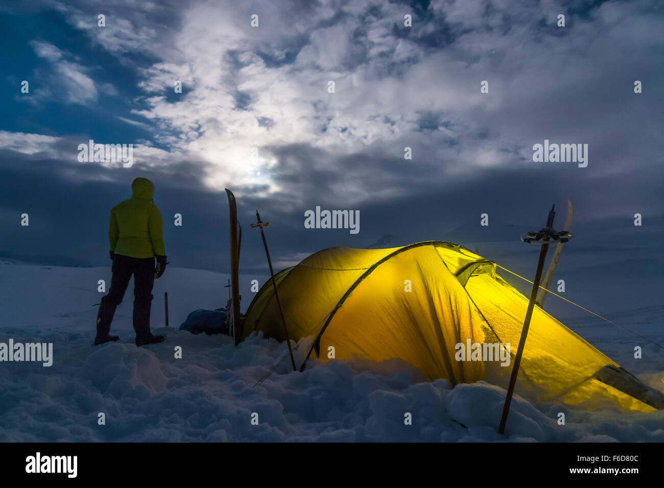 Tenting out in the Northern Wilderness - Stock Image