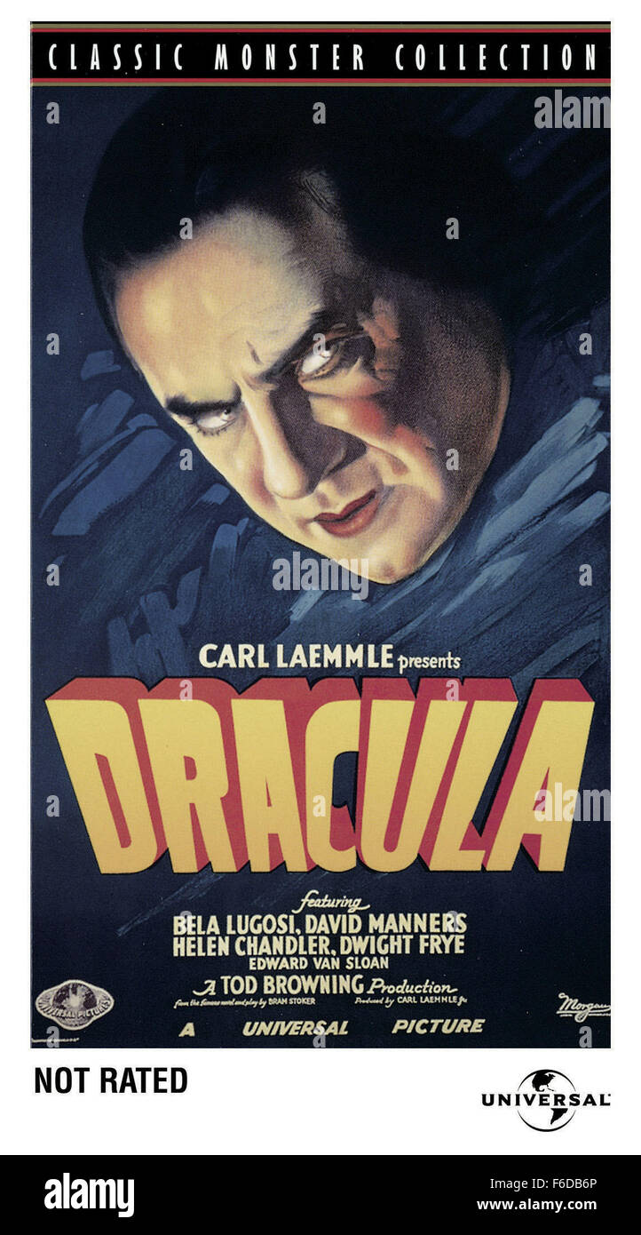 RELEASED: Feb 12, 1931 - Original Film Title: Dracula. PICTURED: MOVIE  POSTER.