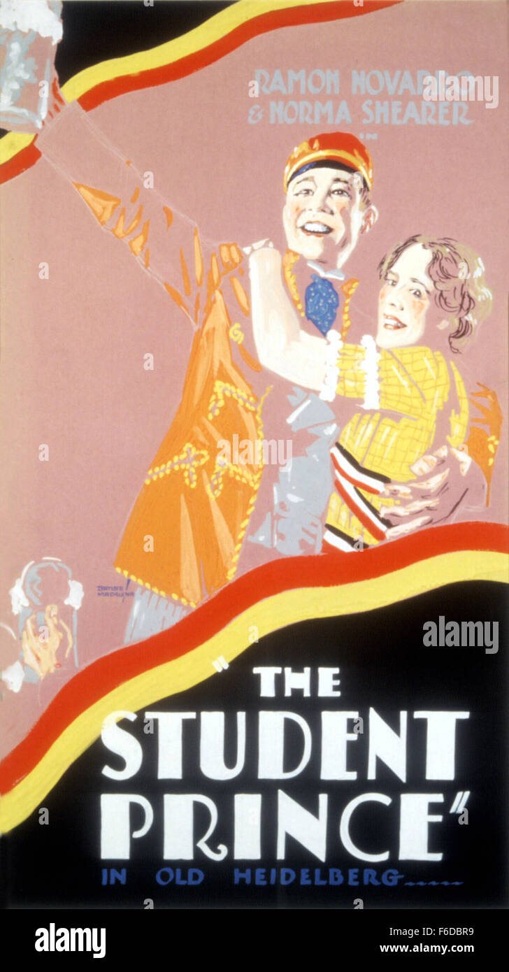 RELEASE DATE: January 30, 1928. MOVIE TITLE: The Student Prince in Old Heidelberg. STUDIO: Metro-Goldwyn-Mayer (MGM). - Stock Image