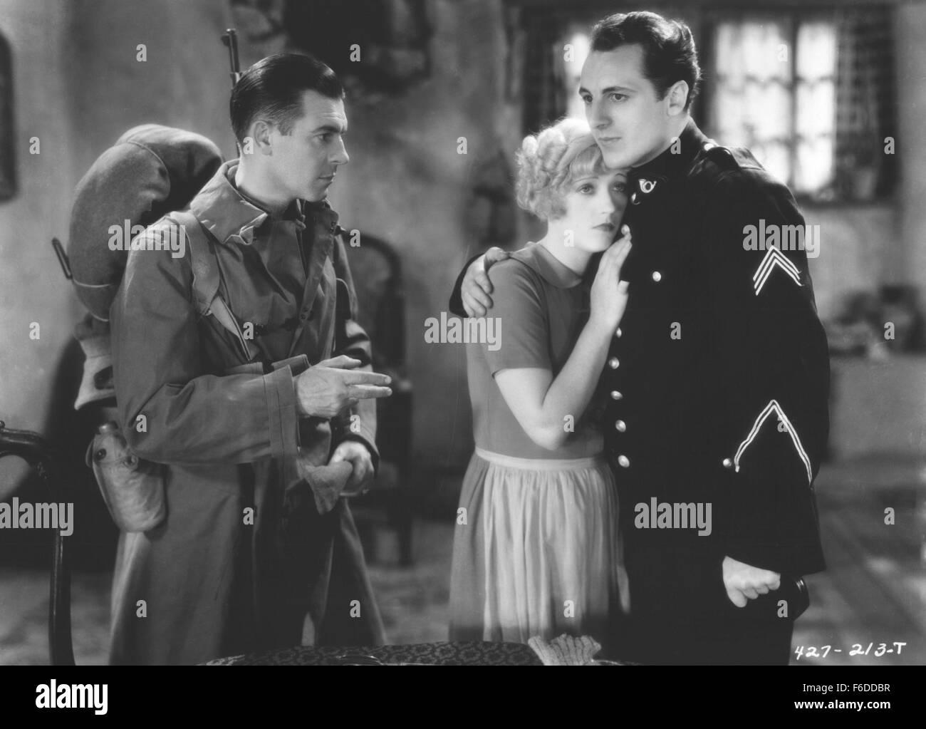 RELEASE DATE: August 24, 1929. MOVIE TITLE: Marianne. STUDIO: Metro-Goldwyn-Mayer (MGM). PLOT: During World War - Stock Image