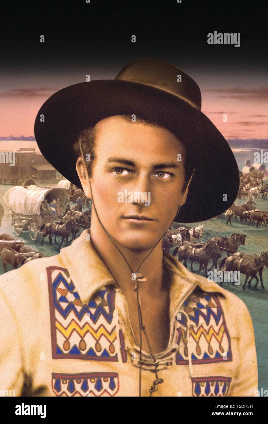 Oct 24, 1930 - Original Film Title: The Big Trail. PICTURED: JOHN WAYNE. - Stock Image