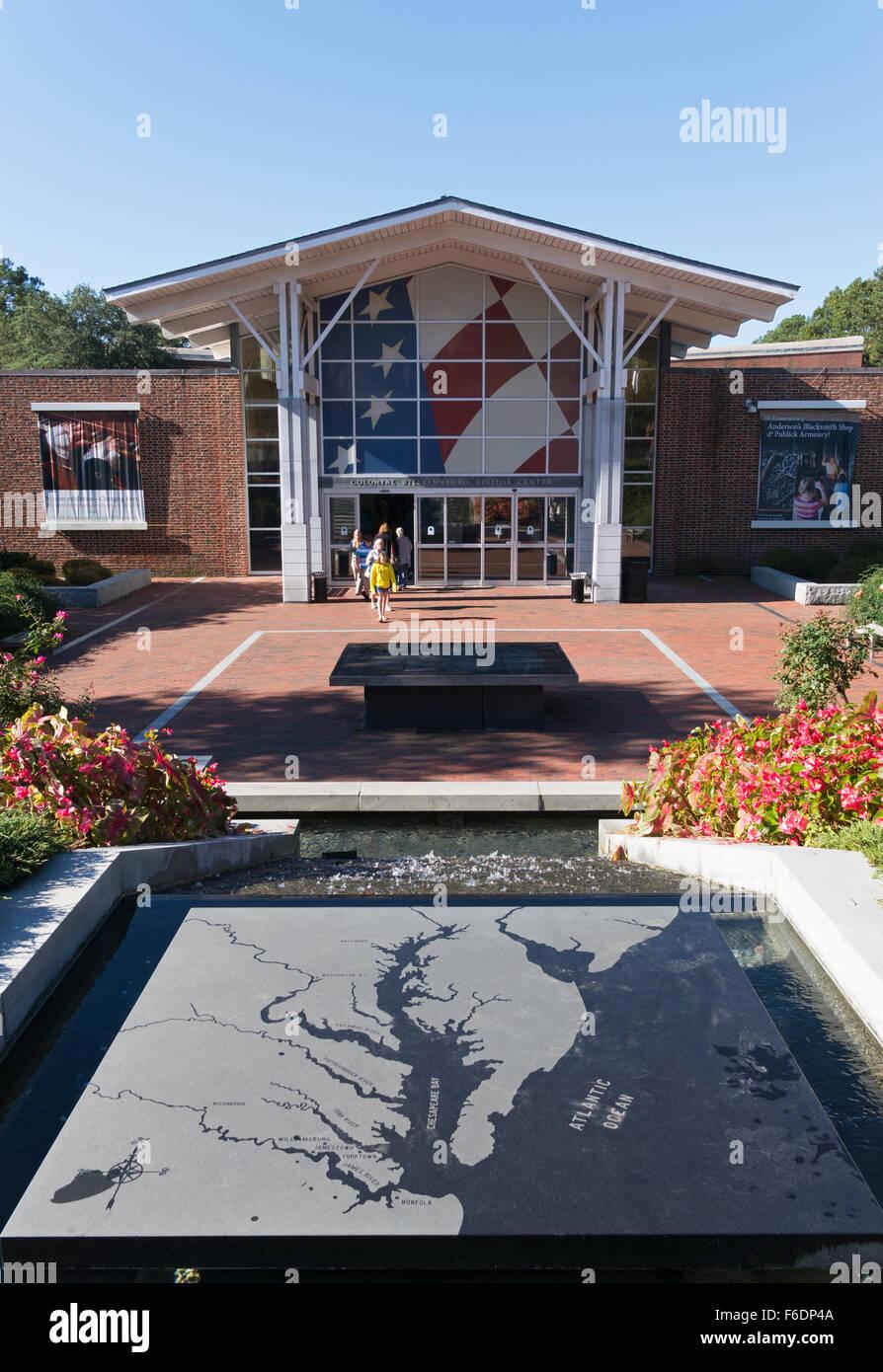 Visitor Center, Colonial Williamsburg, Virginia, USA Stock Photo