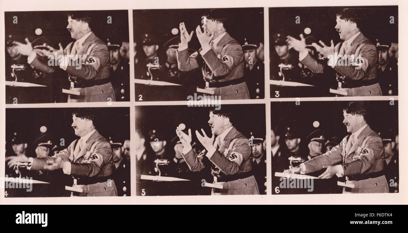 Adolf Hitler 8/11/1942. speech rally  Fuhrer Chancellor Nazi Party Austria Germany Reichstag Mein Kampf  Munich Stock Photo