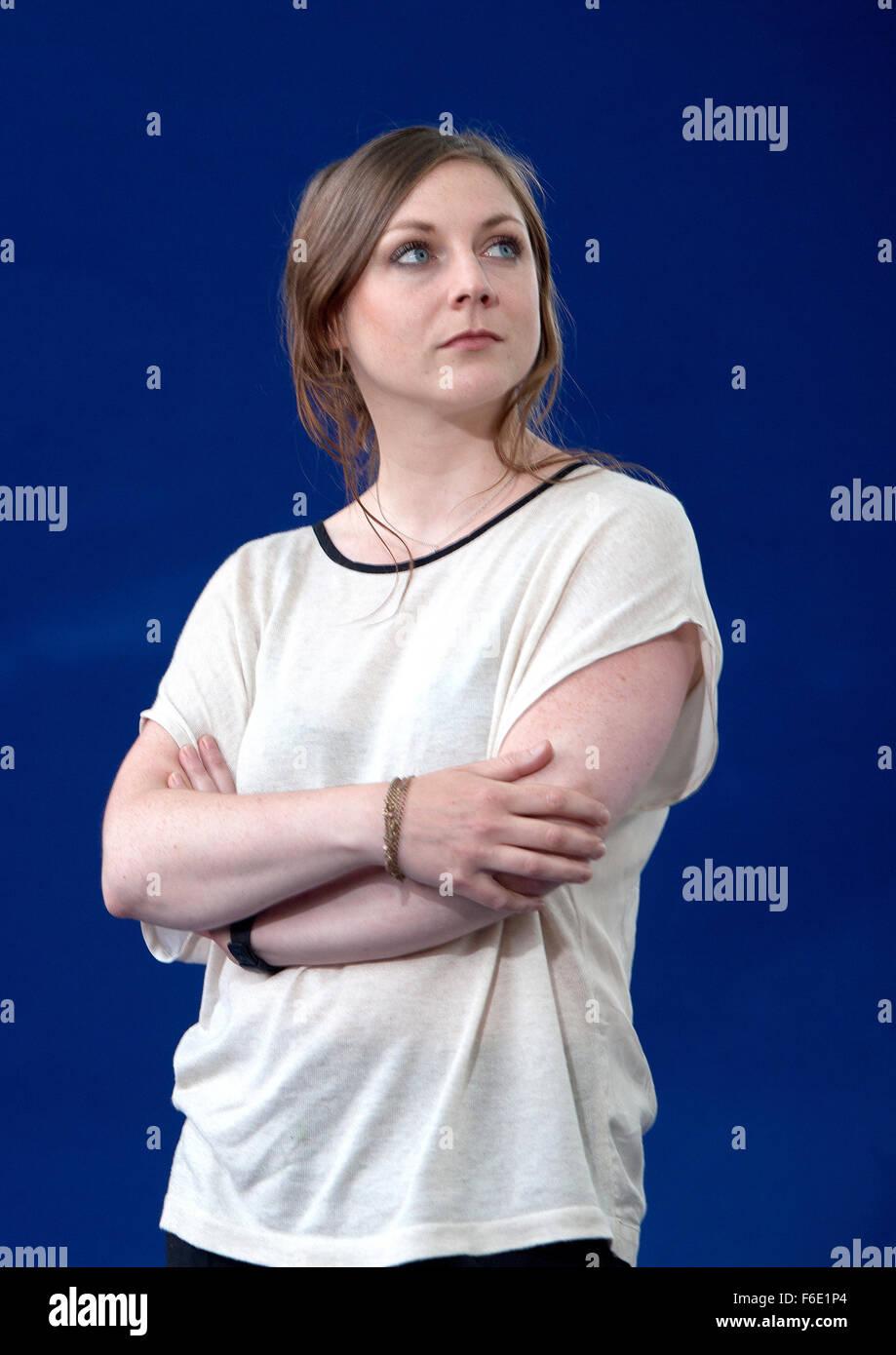 Edinburgh International Book Festival 2013 portrait of Amy Sackville at Charlotte Square Garden   Pic by Pako Mera - Stock Image