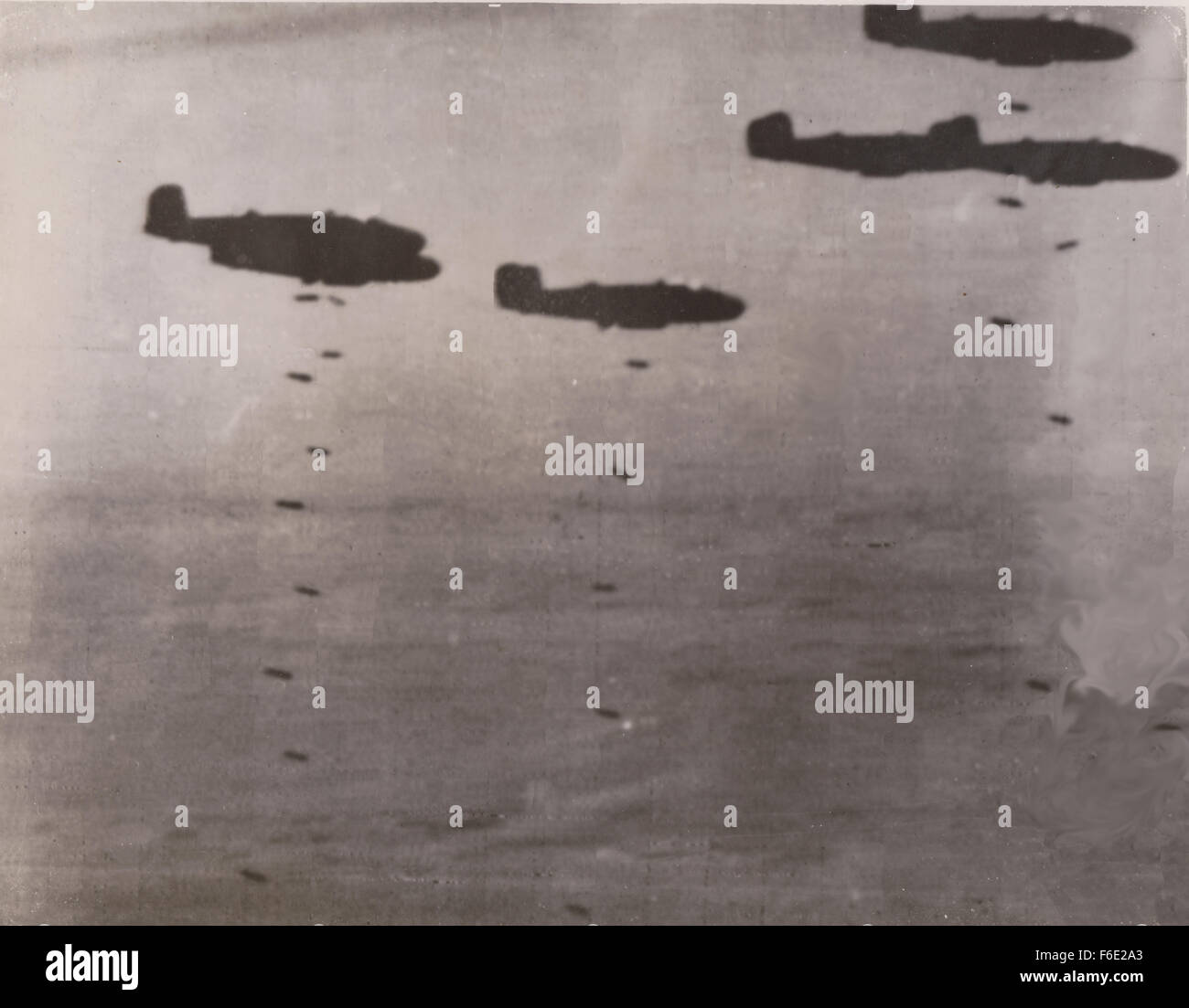 RAF Bomber WW2 North Africa campaign release their bombs Stock Photo