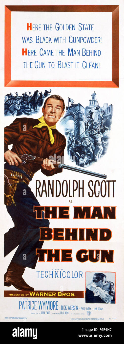 RELEASE DATE: January 31, 1953. MOVIE TITLE: The Man Behind the Gun. STUDIO: Warner Bros. Pictures. PLOT: Posing Stock Photo