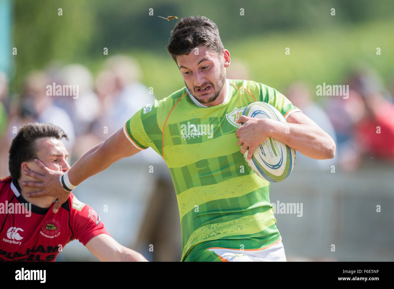 Rugby player in action - Stock Image
