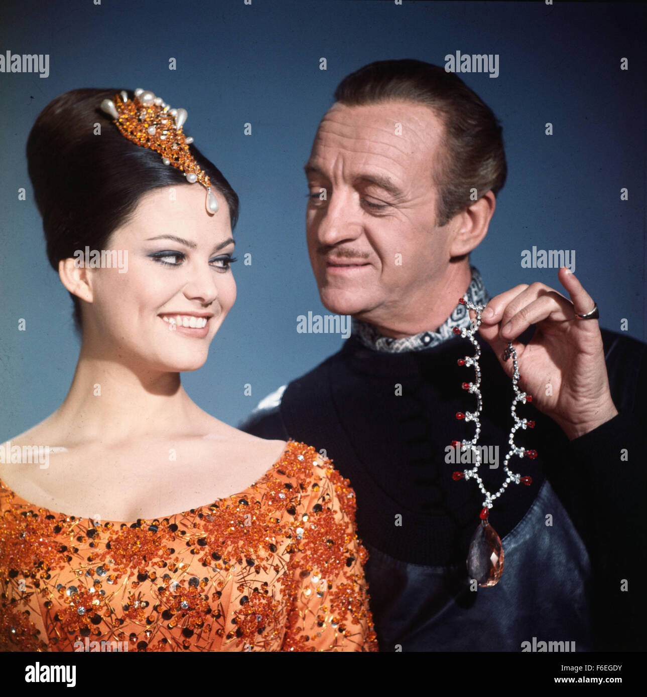 61e231cea1f6 ... Image from director Blake Edwards' crime comedy 'The Pink Panther'  starring CLAUDIA CARDINALE as Princess Dala and DAVID NIVEN as Sir Charles  Lytton.