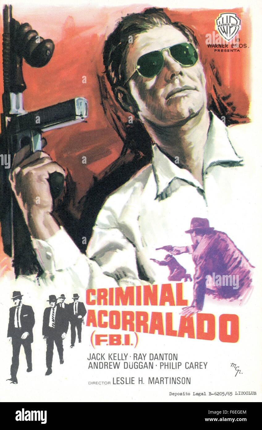 RELEASE DATE: April 8, 1964. MOVIE TITLE: FBI Code 98. STUDIO: Warner Bros. Pictures. PLOT: . PICTURED: JACK KELLY - Stock Image