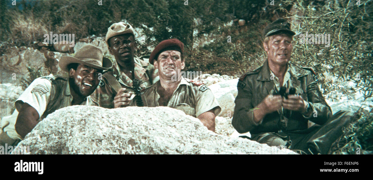 RELEASE DATE: 3 July 1968. STUDIO: MGM Studio. PLOT: A band of mercenaries led by Captain Curry travel through the - Stock Image
