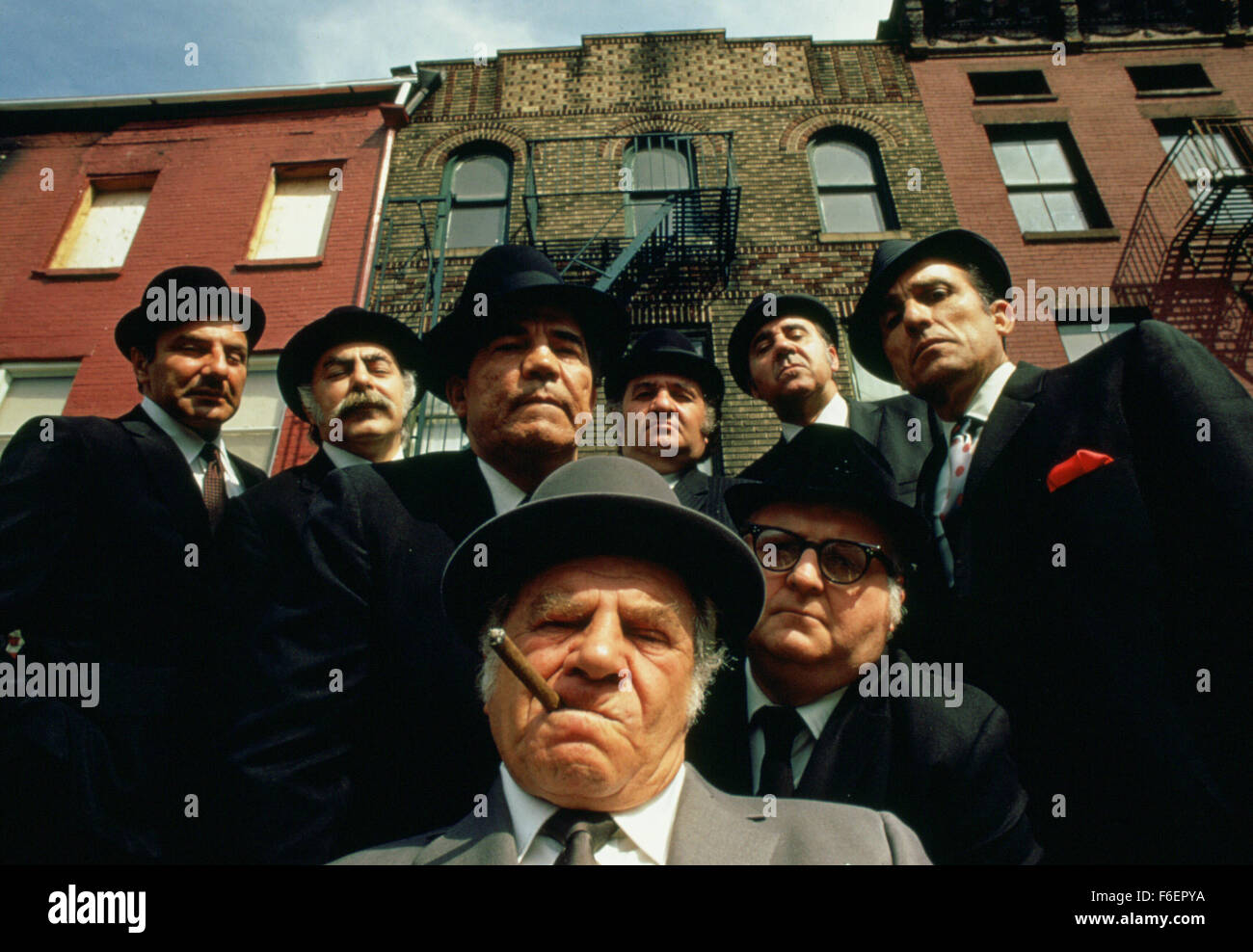 RELEASE DATE: 1971. STUDIO: MGM. PLOT: This is the funny story about two warring Mafia gangs in New York. The weaker - Stock Image