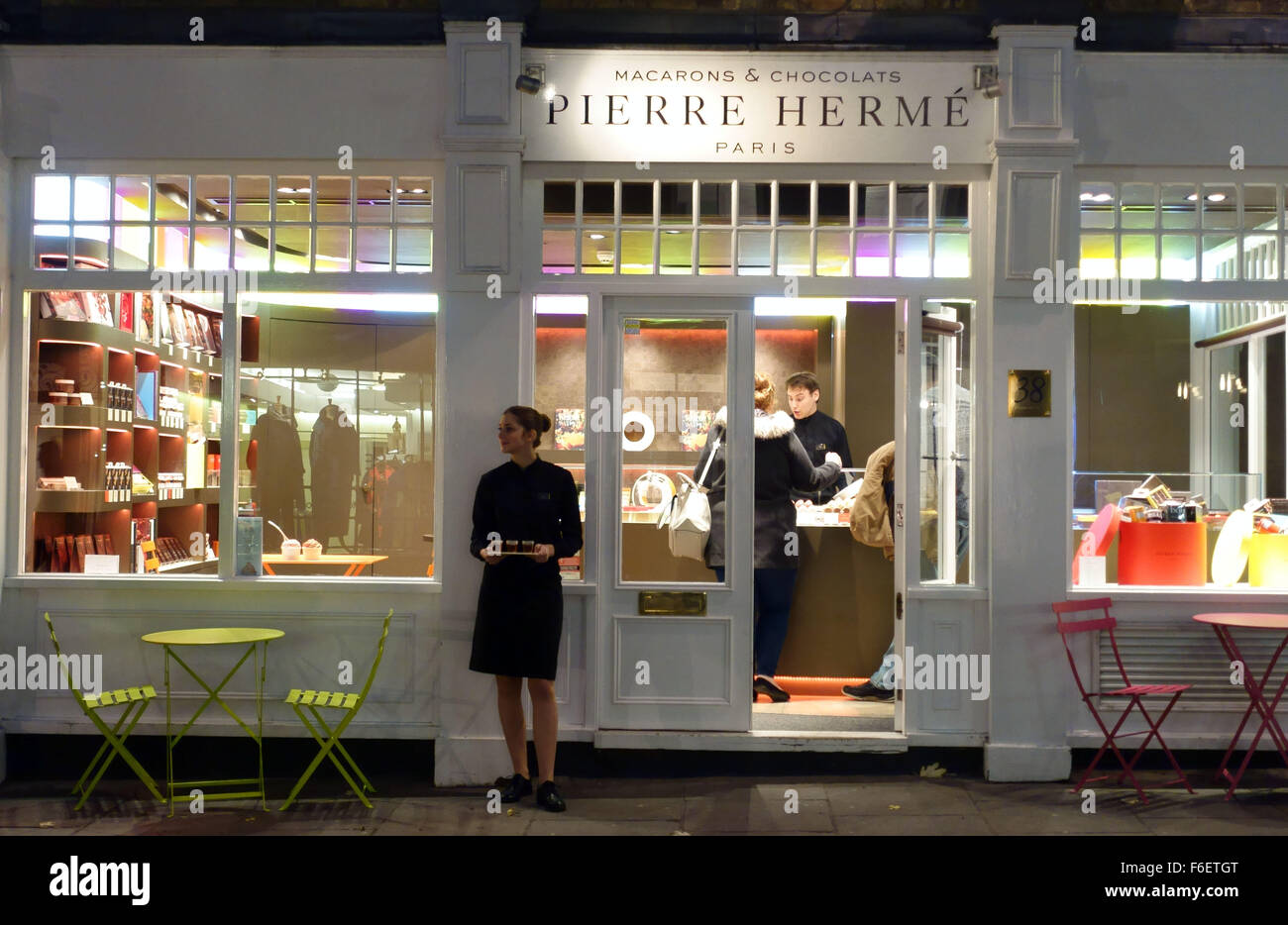 Pierre Herme of Paris chocolate and macaroons shop, Covent Garden, London - Stock Image