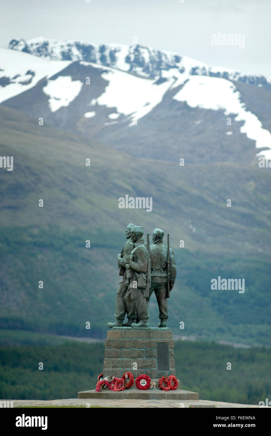 Category A Listed Commando memorial above Spean Bridge in the Highlands of Scotland - Stock Image