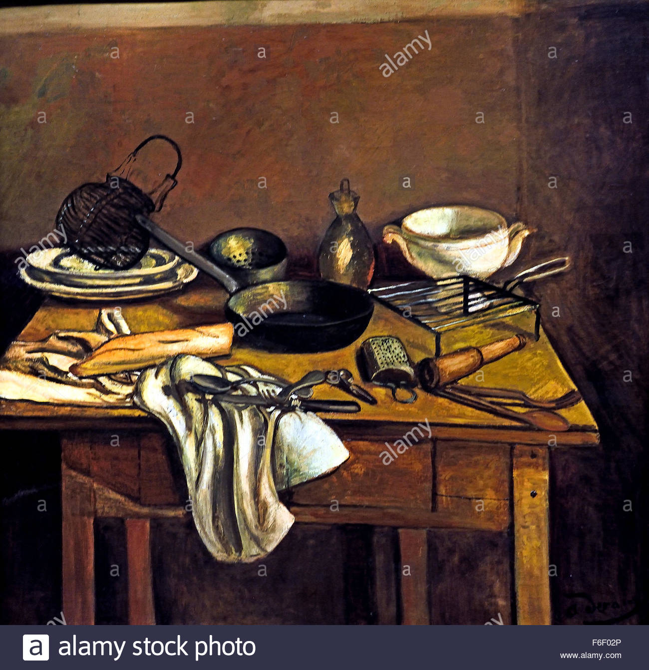 La Table De Cuisine The Kitchen Table In 1925 By Andre Derain