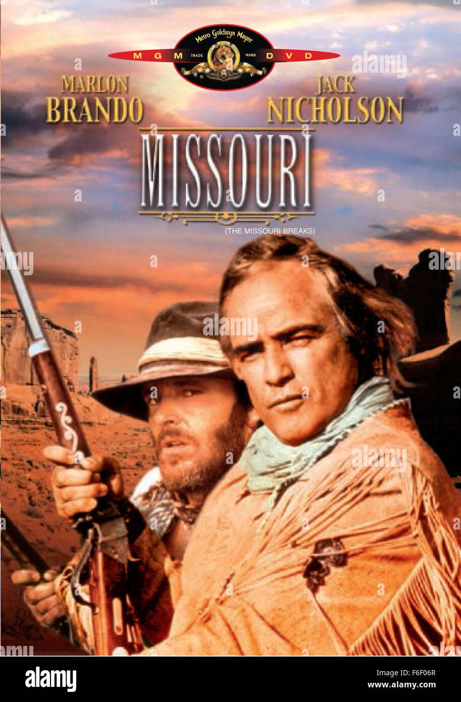 May 19, 1976; Los Angeles, CA, USA; Actor MARLON BRANDO stars as Robert E. Lee Clayton and JACK NICHOLSON as Tom - Stock Image