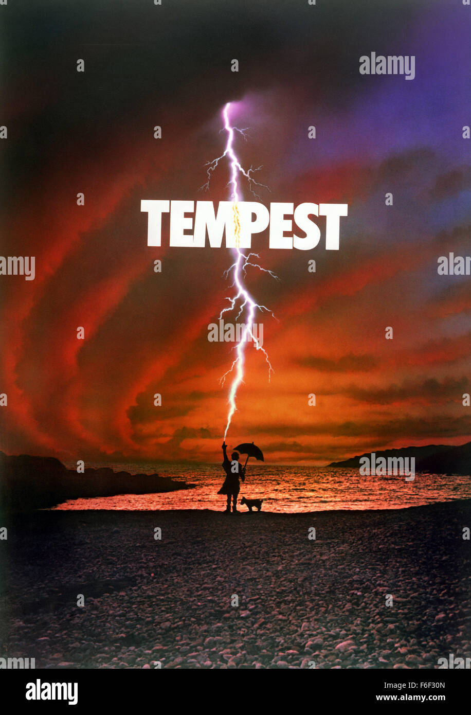 RELEASE DATE: August 13, 1982  MOVIE TITLE: Tempest  DIRECTOR: Paul Mazursky  STUDIO: Columbia Pictures Corporation - Stock Image