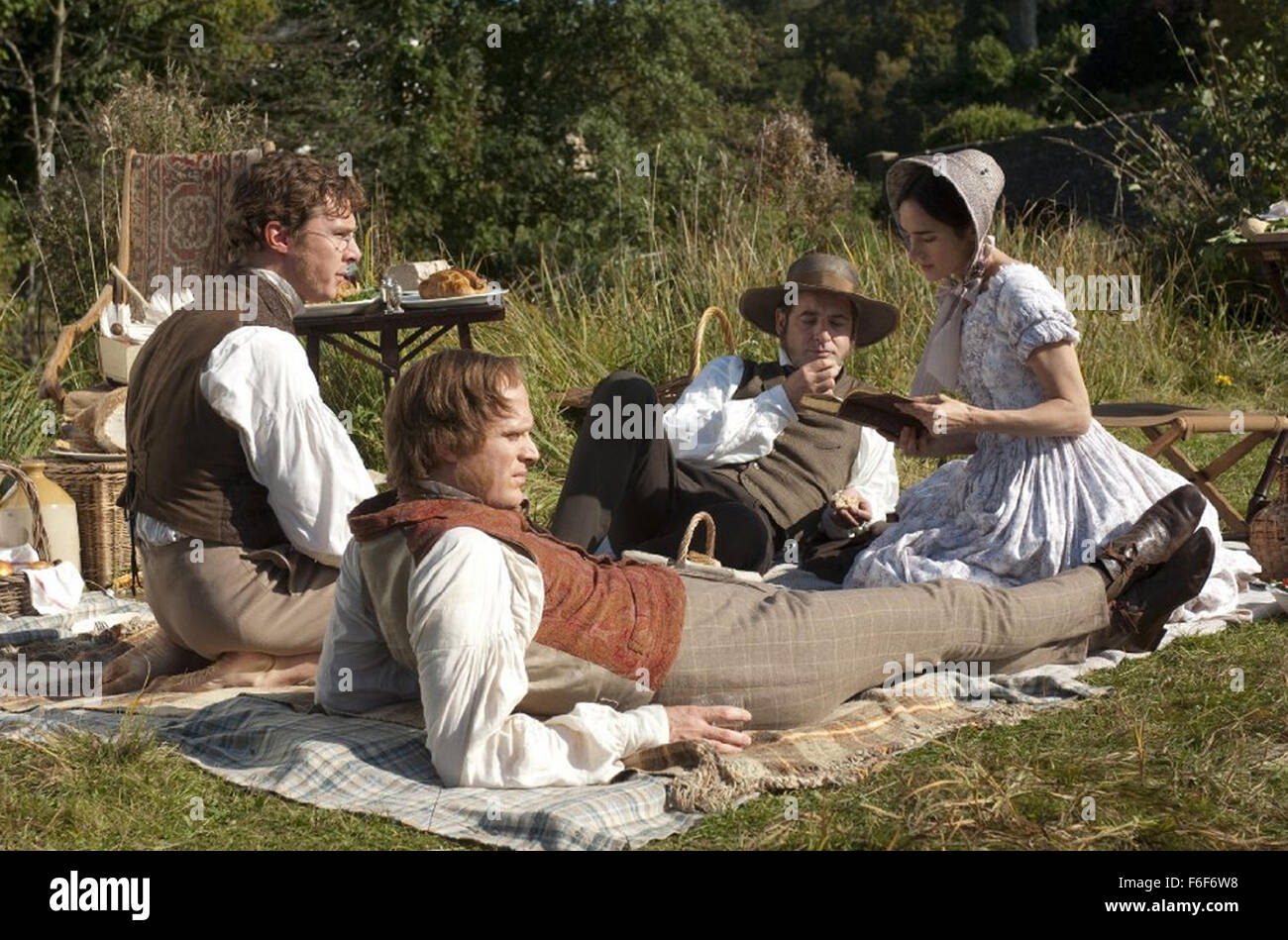 CREATION 2009 RPC/BBC Films production with Jennifer Connelly and Paul Bettany in front as Charles Darwin - Stock Image