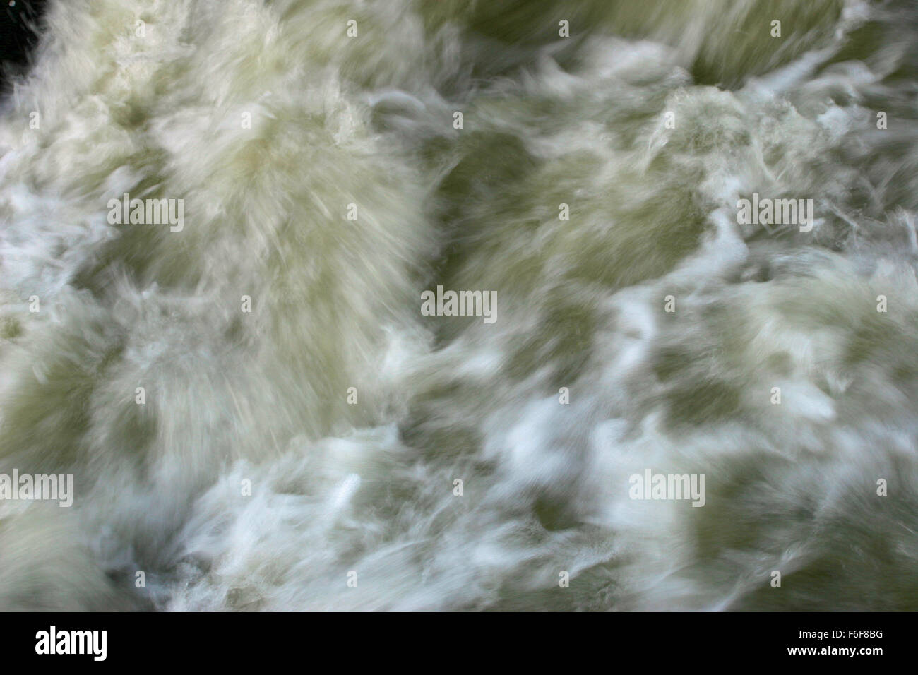 Moving floodwater Stock Photo