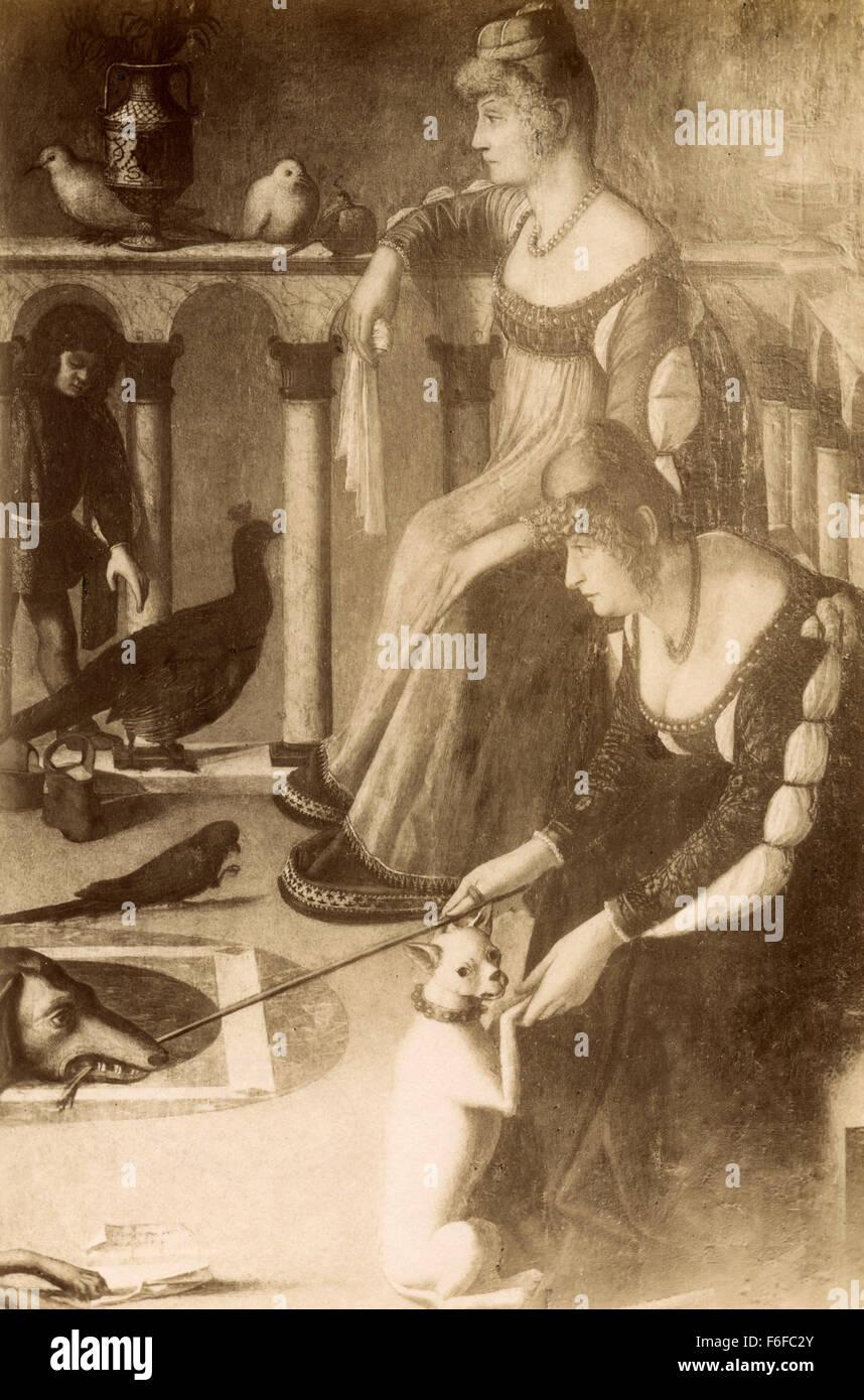 Dame Venetian painting by Carpaccio Stock Photo