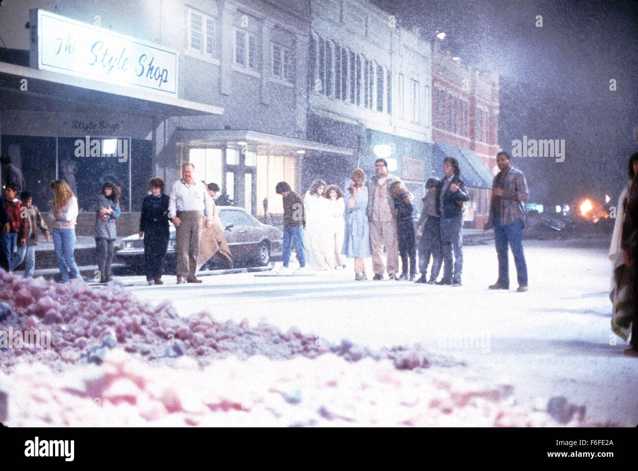 Aug 06, 1988; Hollywood, CA, USA; Scene of the horror sci-fi movie 'The Blob' directed by Chuck Russell. - Stock Image