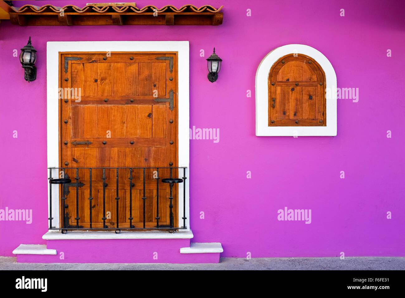 Windows And Exterior Of A Traditional Mexican House Puerto Vallarta