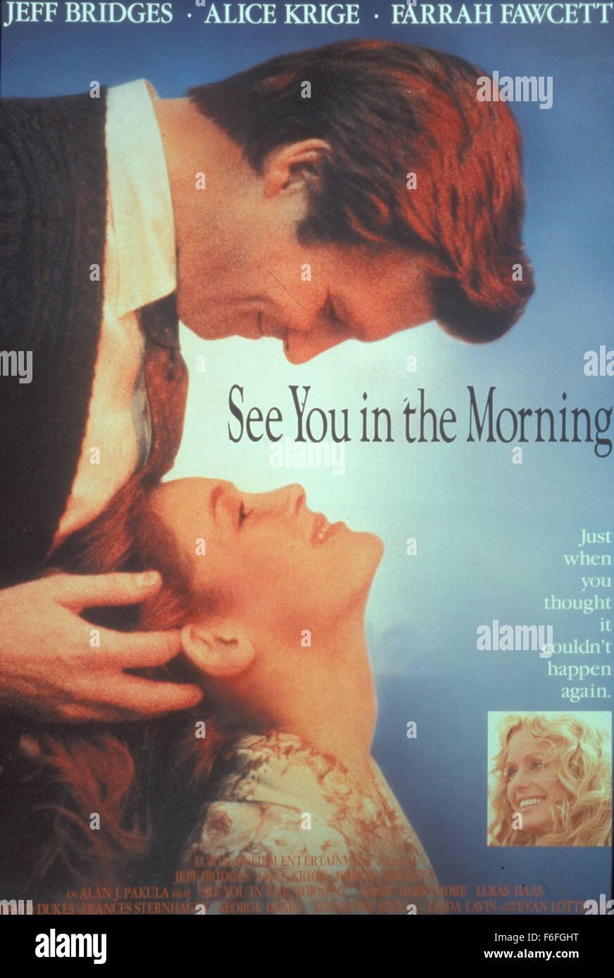 RELEASE DATE: April 14, 1989. MOVIE TITLE: See You in the Morning. STUDIO: Lorimar Film Entertainment. PLOT: Three - Stock Image