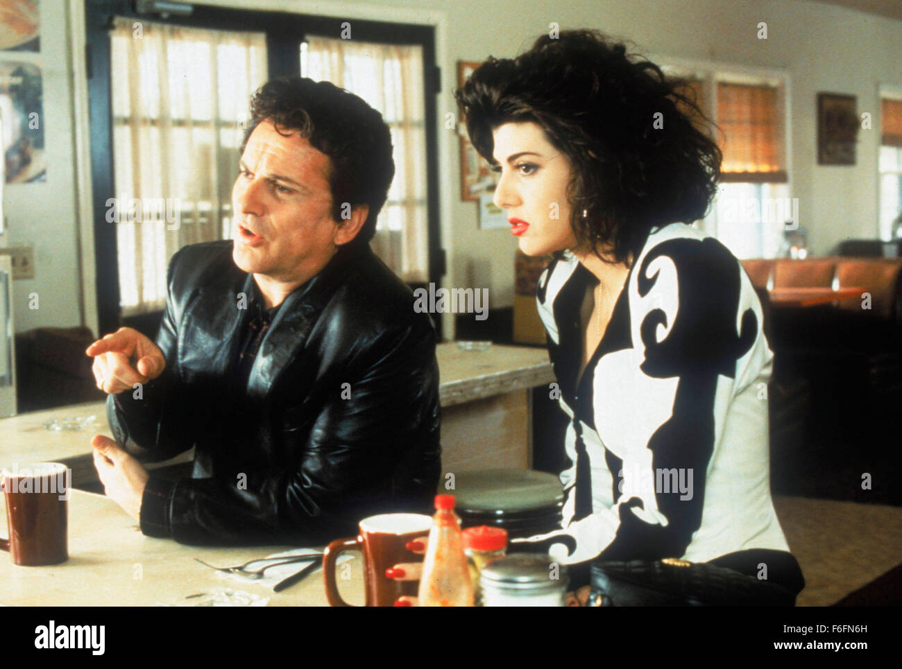 Mar 13, 1992; Los Angeles, CA, USA; Actor JOE PESCI stars as Vincent Gambini and in her Oscar winning role, actress - Stock Image