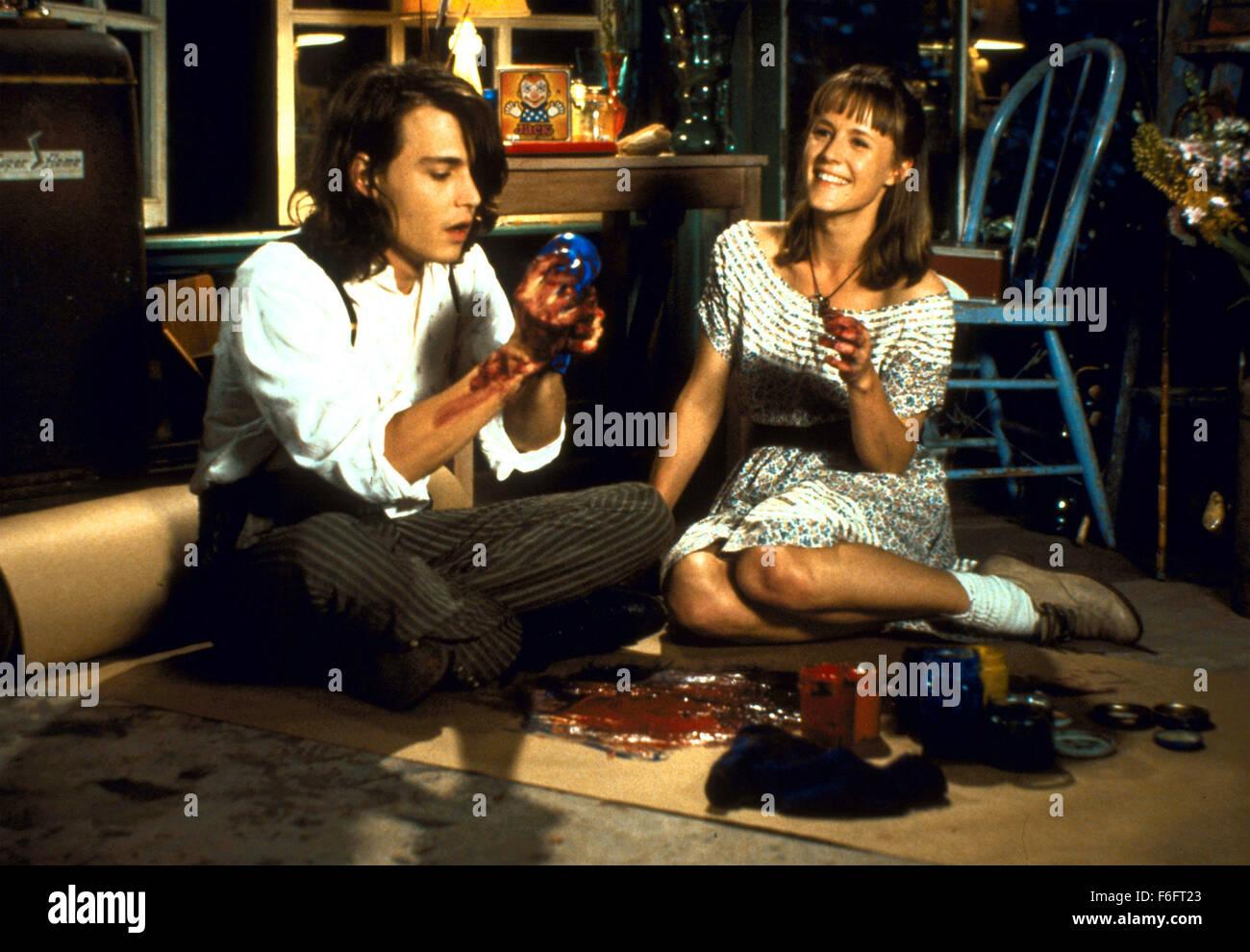 Apr 16, 1993; Spokane, WA, USA; JOHNNY DEPP as Sam and MARY STUART MASTERSON as Juniper 'Joon' Pearl in the comic, Stock Photo