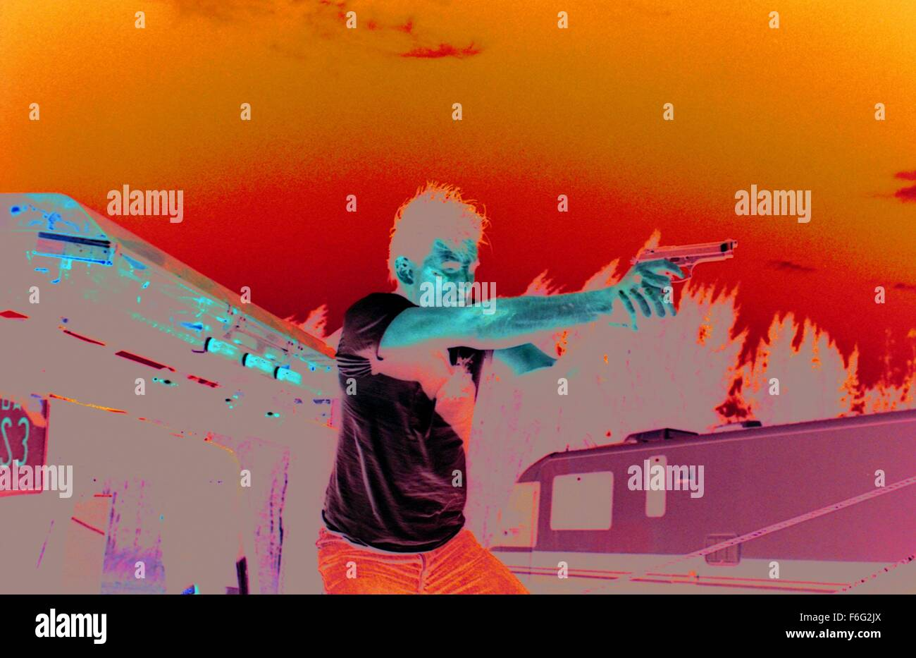 RELEASE DATE: 3 November 1995. MOVIE TITLE: Fair Game STUDIO: Silver Pictures. PLOT: Max Kirkpatrick is a cop who - Stock Image