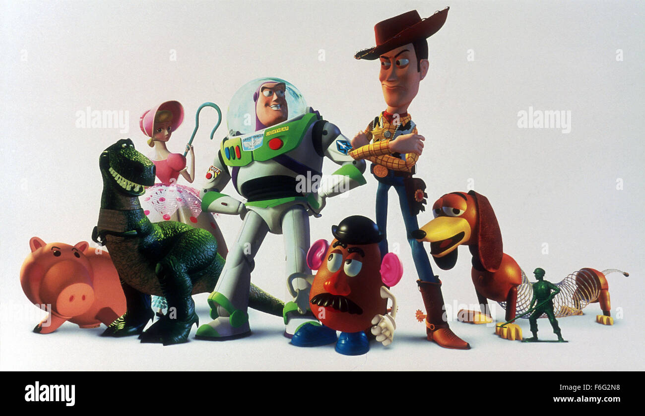 Nov 22, 1995; Los Angeles, CA, USA; Scene from the animated family comedy 'Toy Story' directed by John Lasseter - Stock Image