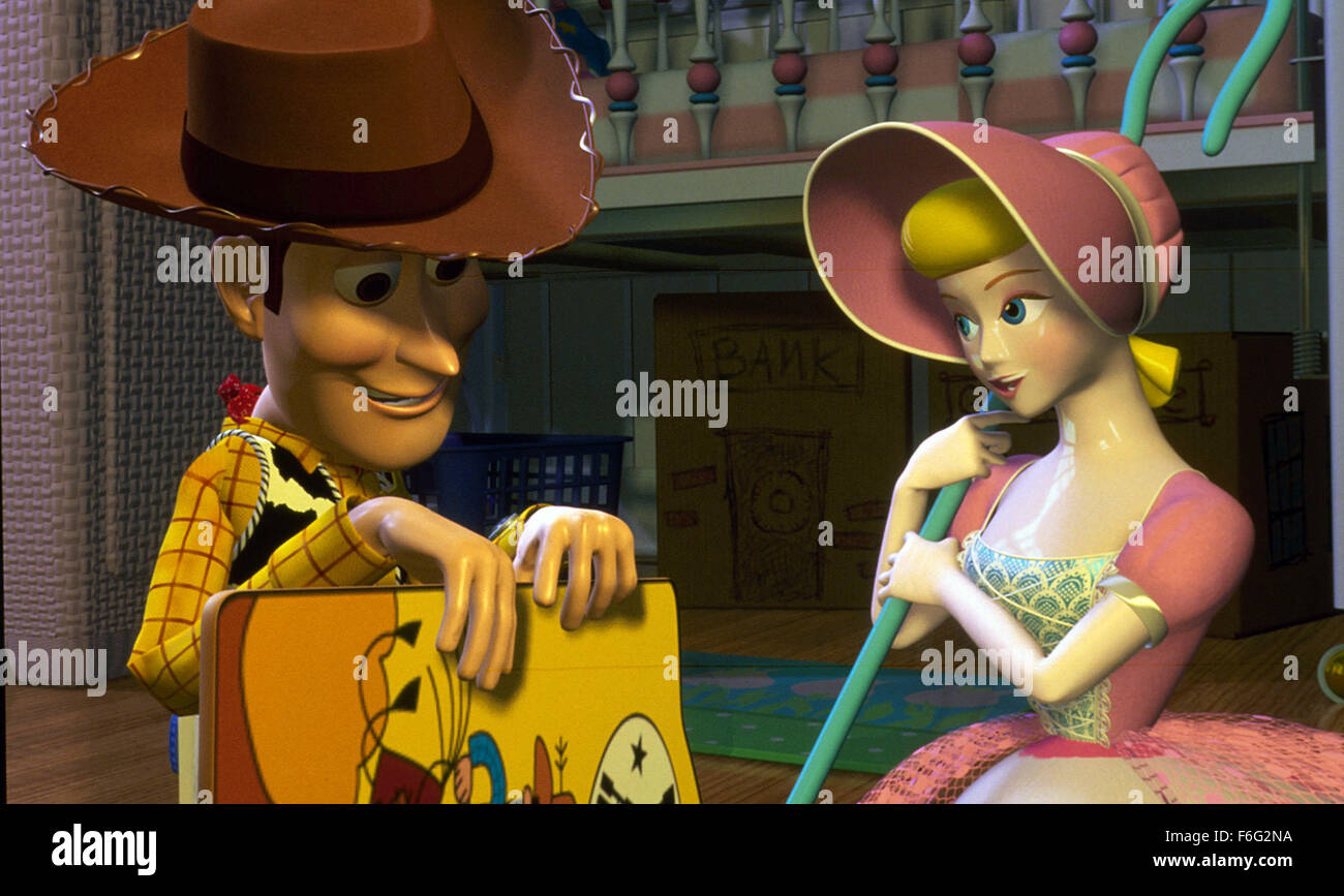 Nov 22, 1995; Los Angeles, CA, USA; TOM HANKS and ANNIE POTTS as the voices of Woody and Bo Peep in the animated - Stock Image