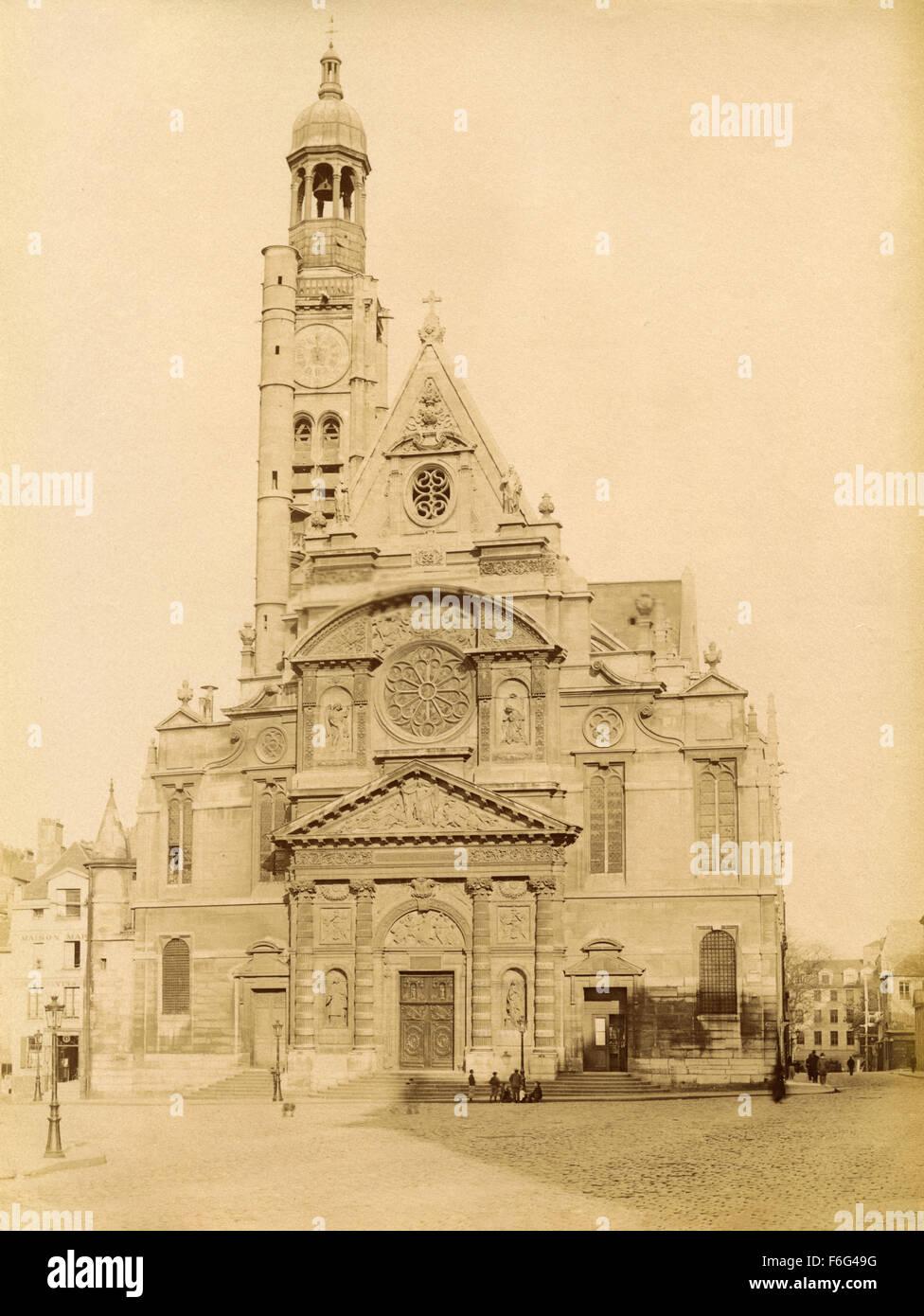 The church of Saint Etienne du Mont, Paris, France - Stock Image