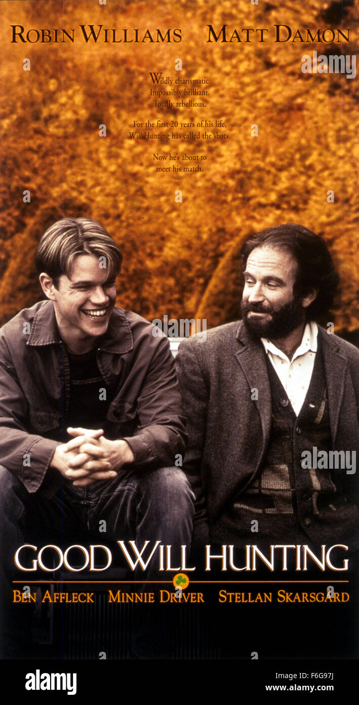Dec 05, 1997; Austin, TX, USA; Poster for the award winning drama 'Good Will Hunting' directed by Gus Van - Stock Image