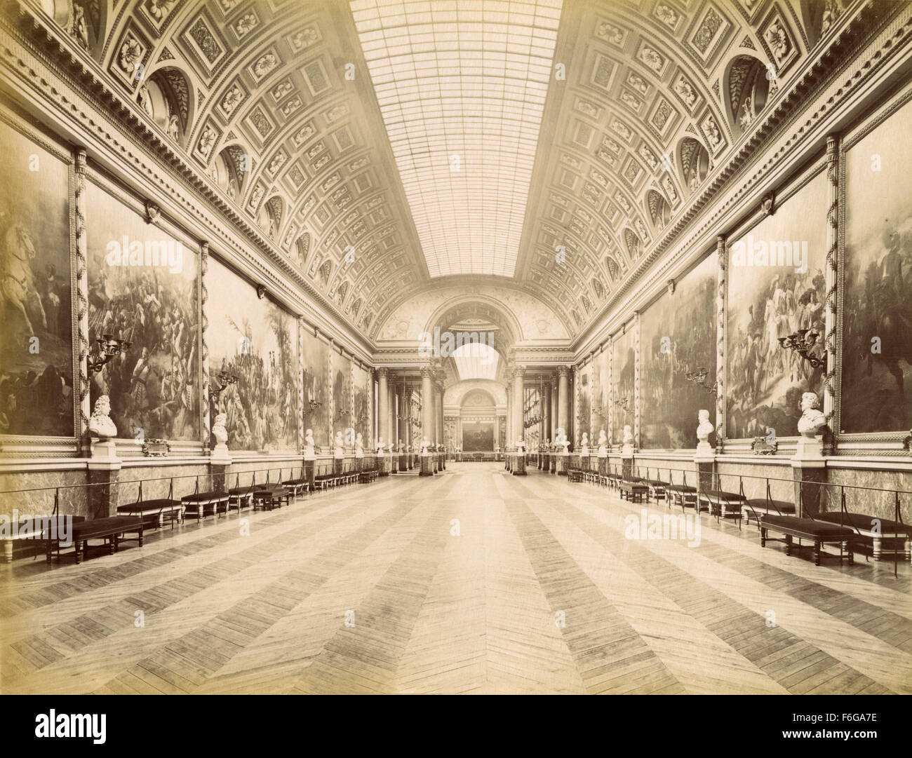 Gallery of Battles, Versailles, France - Stock Image