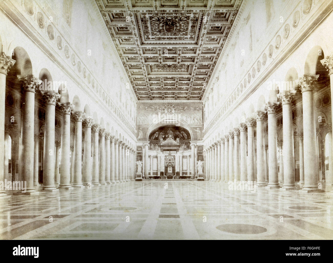 Inside the Church of St. Paul, Rome, Italy - Stock Image
