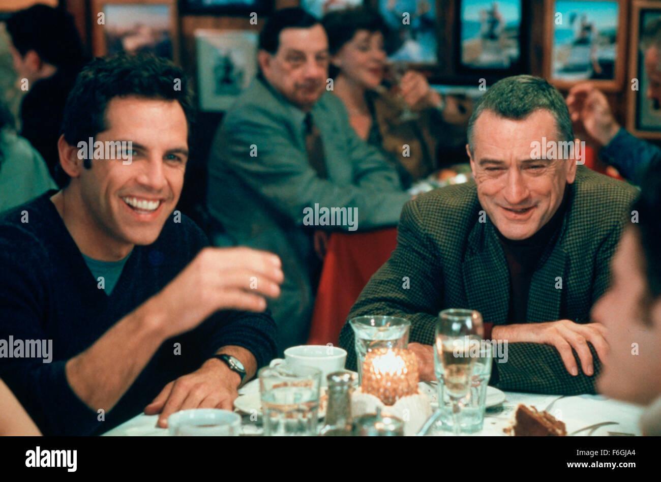 Mar 04, 2000; Hollywood, CA, USA; BEN STILLER and ROBERT DE NIRO star as Greg Focker and Jack Byrnes in the comedy - Stock Image