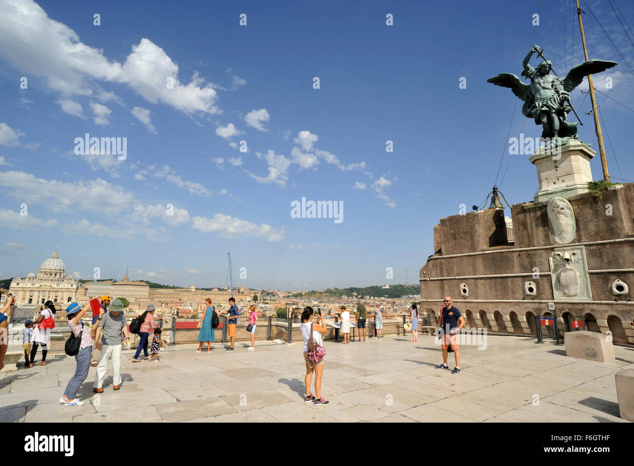 italy, rome, castel sant'angelo, terrace - Stock Image