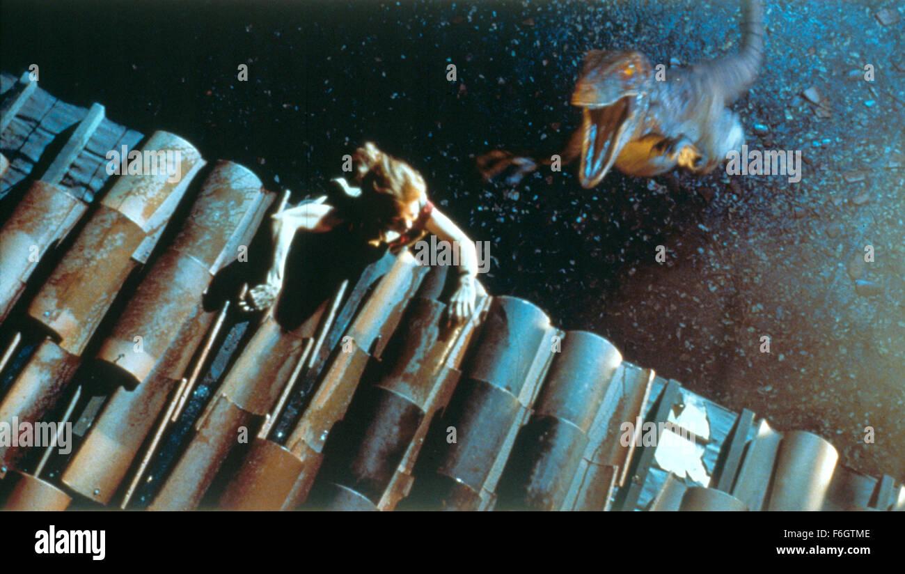 RELEASE DATE: July 16, 2001. MOVIE TITLE: Jurassic Park III. STUDIO: Universal Pictures. PLOT: Adventure runs wild Stock Photo