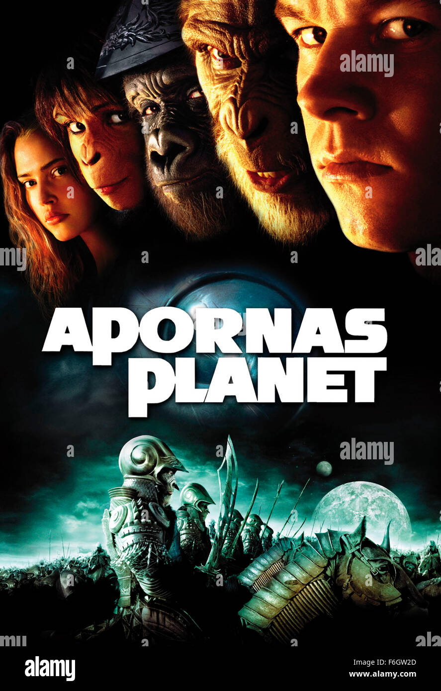 Movie poster planet apes 2001 stock photos movie poster planet jul 26 2001 los angeles ca usa poster art for the publicscrutiny Gallery