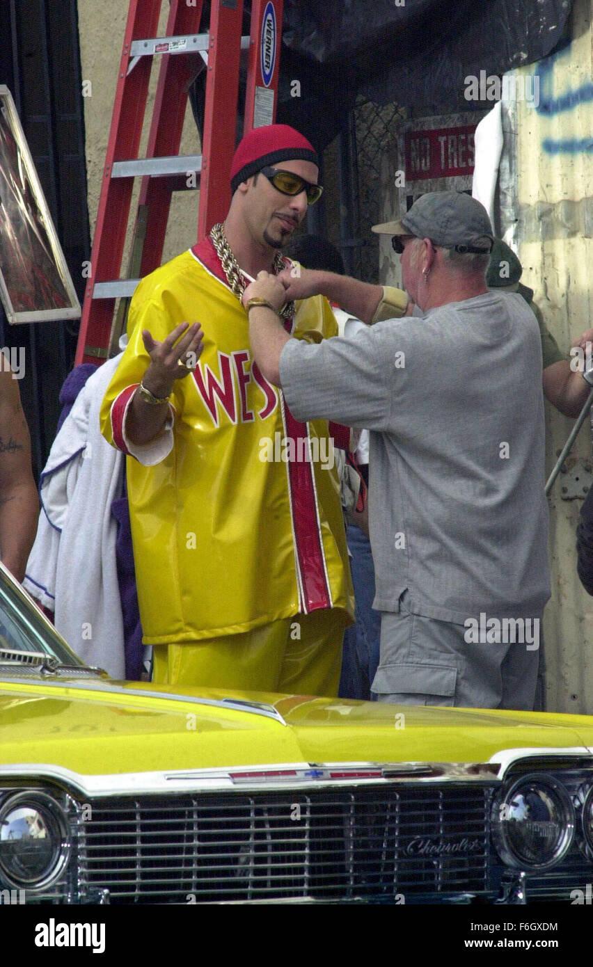Apr 30, 2001; Los Angeles, CA, USA; British comedian SACHA BARON COHEN in costume as 'Ali G' films a scene - Stock Image
