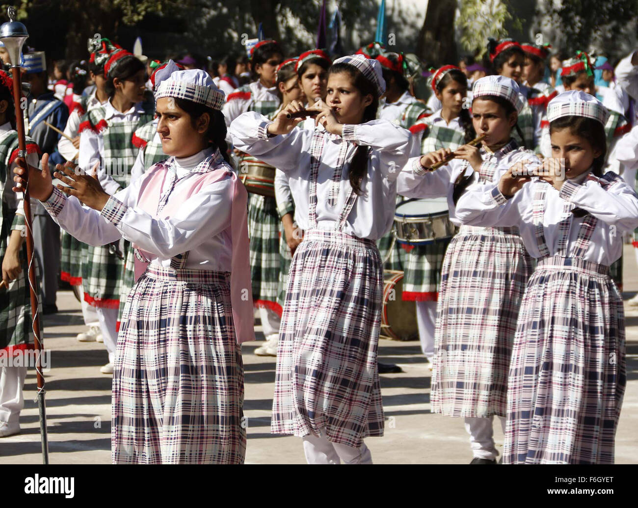 Students are participating in annual Sports Gala organized by Government of Khyber Pakhtunkhwa in Peshawar on Tuesday, - Stock Image