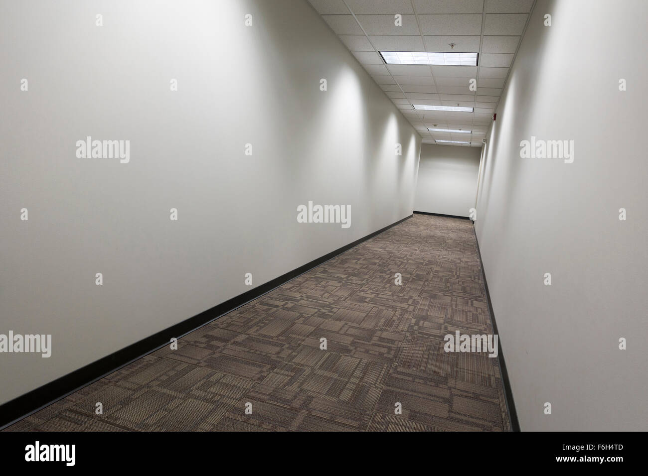clean modern empty commercial hallway - Stock Image