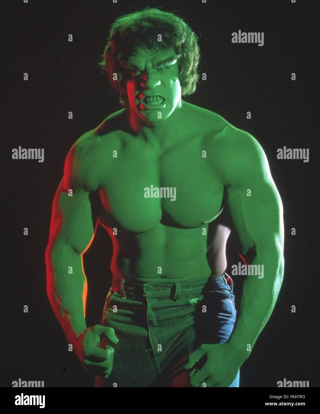 1978 Film Title Incredible Hulk Credit Image Snap Stock