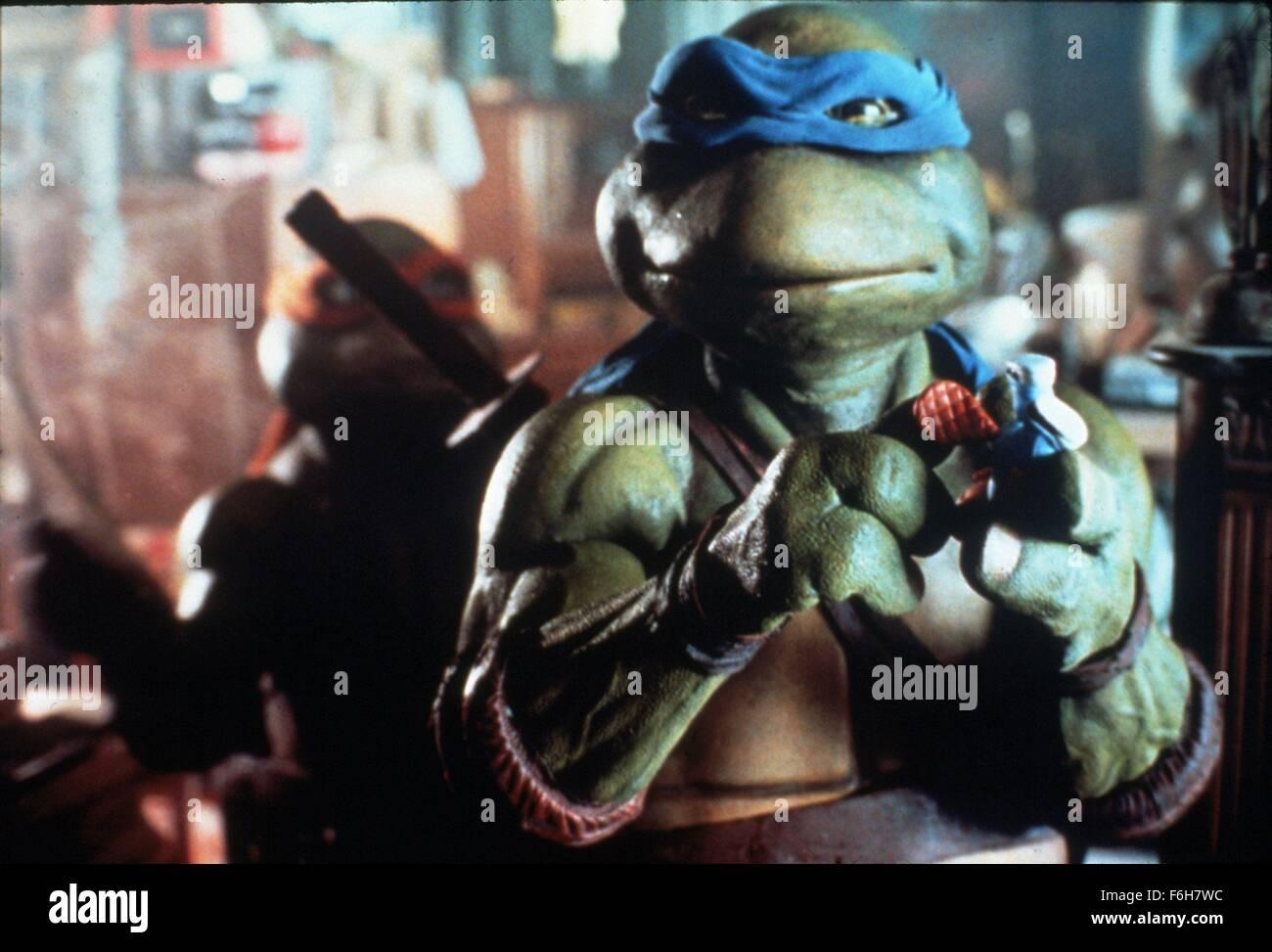 RELEASE DATE: March 30, 1990   MOVIE TITLE: Teenage Mutant Ninja Turtles   STUDIO: 888 Productions   DIRECTOR: Steve - Stock Image