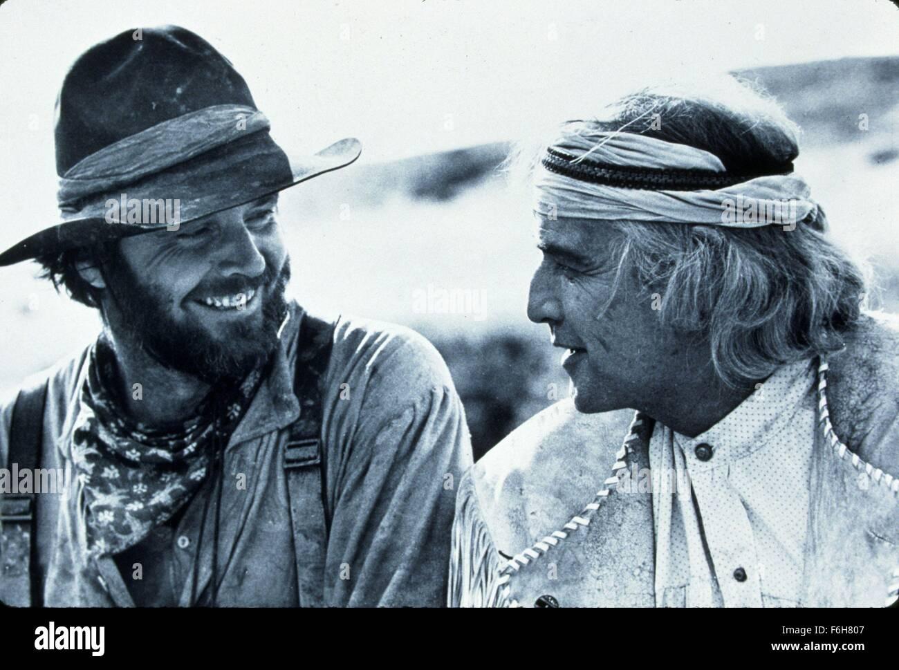 1976, Film Title: MISSOURI BREAKS, Pictured: BEARD, MARLON BRANDO, COWBOY, HAT, MOUSTACHE. (Credit Image: SNAP) - Stock Image