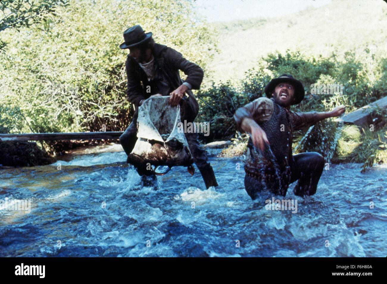 1976, Film Title: MISSOURI BREAKS, Pictured: BEARD, COWBOY, FIGHTING, HAT, MOUSTACHE, JACK NICHOLSON. (Credit Image: - Stock Image