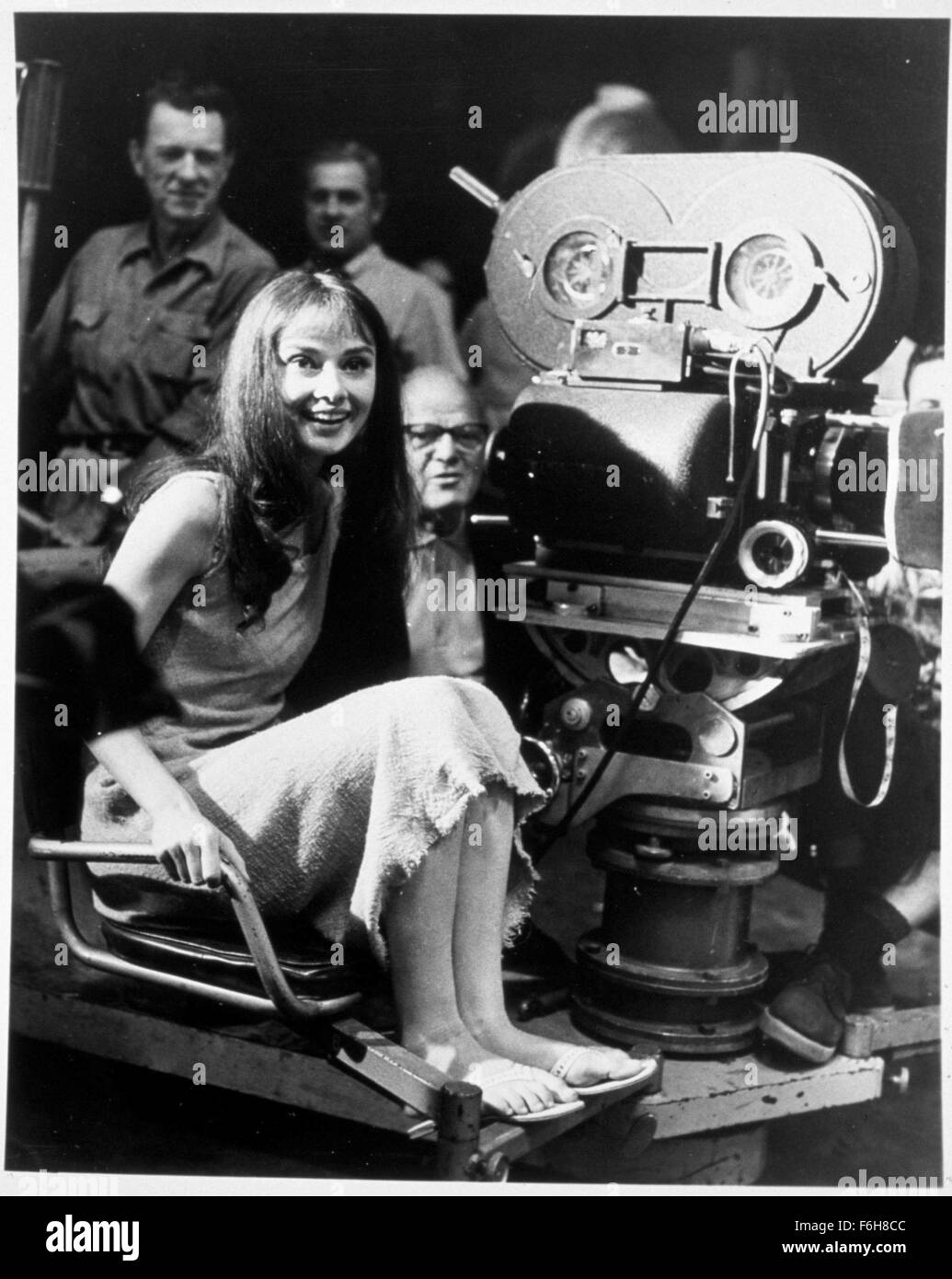 1959, Film Title: GREEN MANSIONS, Director: MEL FERRER, Pictured: 1959, BEHIND THE SCENES, HAIR - LONG, AUDREY HEPBURN, - Stock Image