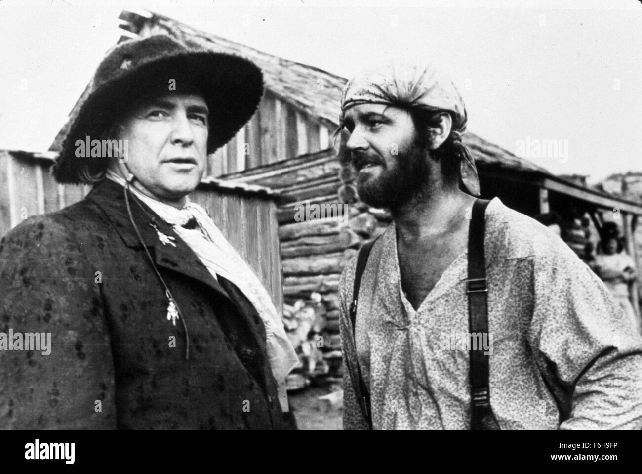 1976, Film Title: MISSOURI BREAKS, Director: ARTHUR PENN, Pictured: MARLON BRANDO, JACK NICHOLSON. (Credit Image: - Stock Image
