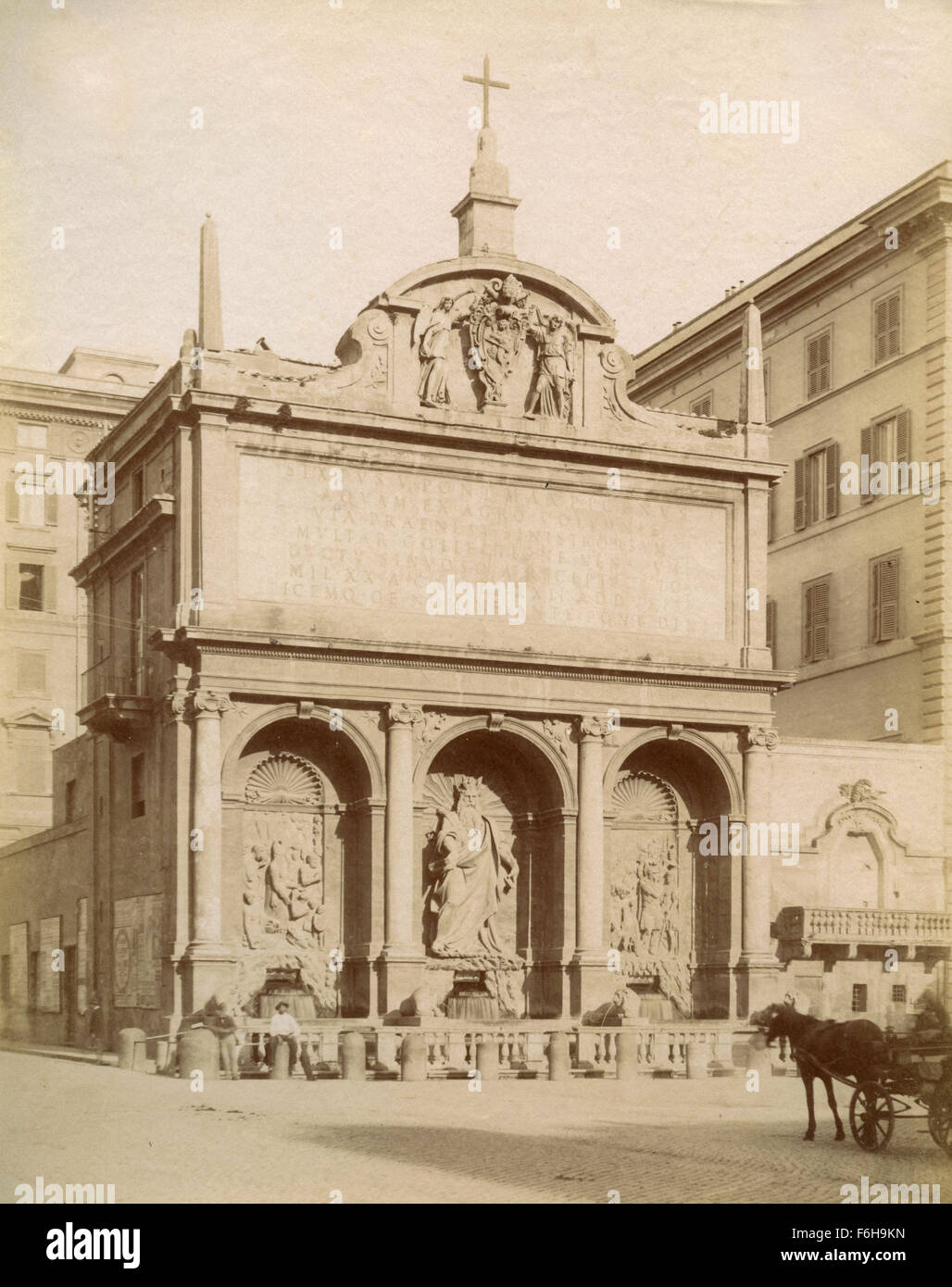 Acqua Felice Fountain, Rome, Italy - Stock Image
