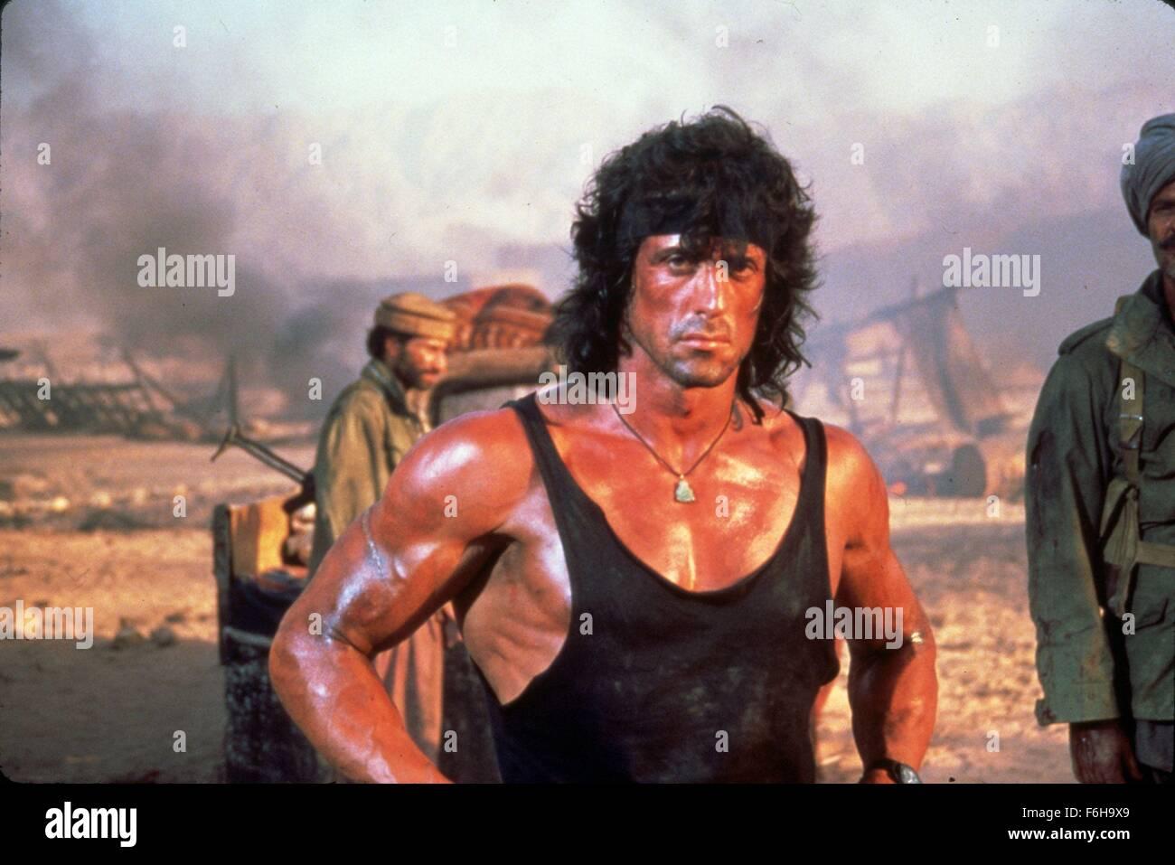 Sylvester Stallone As Rambo Film Title Rambo Stock Photos